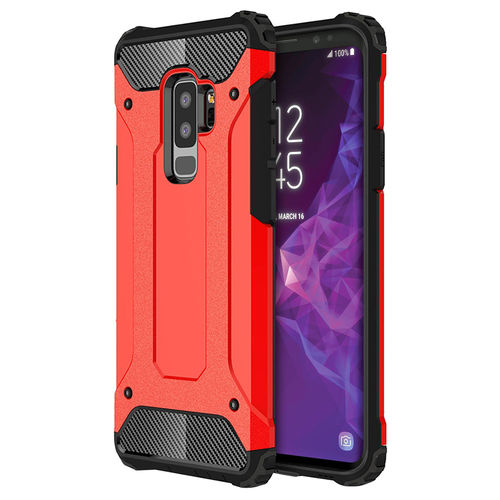 Military Defender Shockproof Case for Samsung Galaxy S9+ (Red)